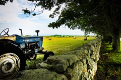 Darmouth MA Hay Field (Andrew Lincoln Photos) Tags: tractor grass ma fields hay darmouth andrewlincolnphotographer