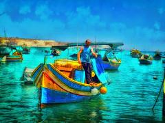 Fisherman - Marsaxlokk, Malta (leigh-kemp.pixels.com) Tags: malta marsaxlokk fishing fishingboat fisherman painterly omdem5 mzuiko1240mm128