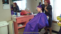 Kat's Bleaching and Purple Haircolor (kat_surth) Tags: bleaching hairbleaching hair invertedbob bob bobhairstyle purple purplehair purplehaircoloring salon beautysalon beautyshop