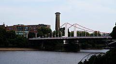 Chelsea Bridge & Chimney of the Western Pumping Station (HoosierSands) Tags: riverthames chelsea pimlico london