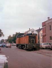 Milwaukee Road Lakewood Branch switcher 1978 (jsmatlak) Tags: chicago milwaukee road lakewood branch ce frieght train switching railroad reed candy