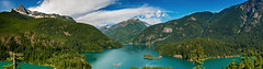 Ross Lake, Washington (EdBob) Tags: summer sky panorama lake mountains nature water clouds forest boats outdoors washington colorful dam turquoise reservoir pacificnorthwest washingtonstate northcascades ferryboat hydroelectric rosslake westernwashington rossdam ferr northcascadeshighway washingtonstatetourism edmundlowe rosslakenationalrecreationarea edmundlowephotography
