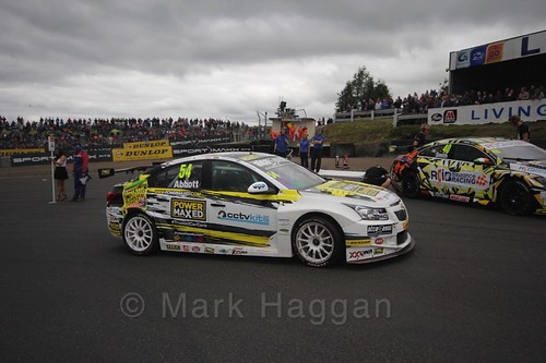 Hunter Abbott on the grid during the BTCC Knockhill Weekend 2016
