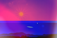 photo (ninasehovac) Tags: day night sun light color confusion red blue nature colorful mountain magic