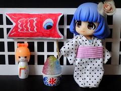 Sekai  (Dolly Fugu ) Tags: cupoche cu poche friends belle koinobori kokeshi kakigori kimono