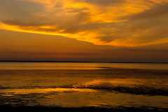 Golden Bay (jfusion61) Tags: florida port st joe bay sunset yellow clouds low tide nikon d810 2470mm summer island