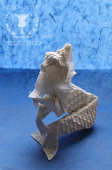 Merlion (version 3. 0) (Andrey Ermakov) Tags: ioio ioio2016 ermakov fold origami olympiad merlion crease cp tessellation paper paperfold fan fantasy