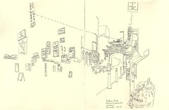 China Town - Manchester (lolo wagner) Tags: manchester symposium usk urbansketchers croquis sketch feutre pinceau publicités enseignes chinois