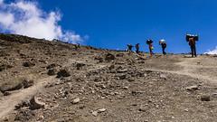Final climb to Barafu Camp, Mt Kili (NettyA) Tags: 2012 africa mtkilimanjaro tanzania trekking canoneos550d clouds landscape roomtheagency lemosho barafucamp porters steep