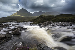 Slither (Griff~ography) Tags: sligachan skye isleofskye river mountain range scotland sky clouds sunlight water rocks le longexposure