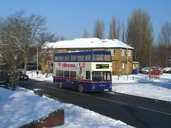 Seasons Greetings! (MCW1987) Tags: travel snow west mk2 midlands metrobus twm mcw tettenhall 2907 c907fon