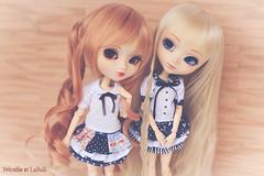 Ichigo and Eiko (Rinoninha) Tags: doll handmade chips wig pullip eiko 27 ichigo muñeca amano peluca mymelody obitsu rewigged stica rechipped nénelleetlalluli