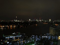 Dark River (Deepgreen2009) Tags: city urban london night dark lights canarywharf riverthames