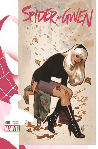 "Spider-Gwen_1_Hughes_Variant • <a style=""font-size:0.8em;"" href=""http://www.flickr.com/photos/118682276@N08/15811504344/"" target=""_blank"">View on Flickr</a>"