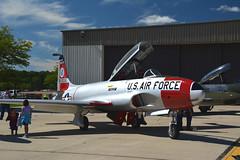 WOW2014-0102 Lockheed T-33 55-0556 N133KK (kurtsj00) Tags: star wings over jet shooting lockheed waukegan trainer 2014 t33 n133kk 550556
