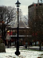 0008732 (Shakies Buddy) Tags: christmas street decorations canada lamp bells post nb bandstand kingssquare saintjohn refurbished nbphoto ©allrightsreserved kingssquarebandstand