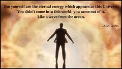 Popular inspirational quotes at EmilysQuotes (EmilysQuotes) Tags: world ocean amazing great wave wisdom inspirational universe alanwatts eternalenergy