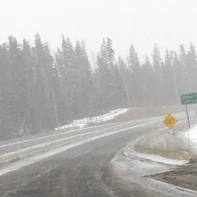 Its snowing. Toto, were not in #SurreyBC #roadtrip to #Penticton