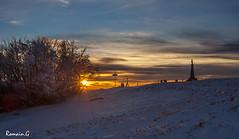 Sunset au Ballon d'Alsace (Romain Guilhot) Tags: winter light sunset mountain snow france montagne canon soleil lumire couleurs hiver ballon coucher alsace neige janvier blanc vosges sommet hivernal ballonalsace