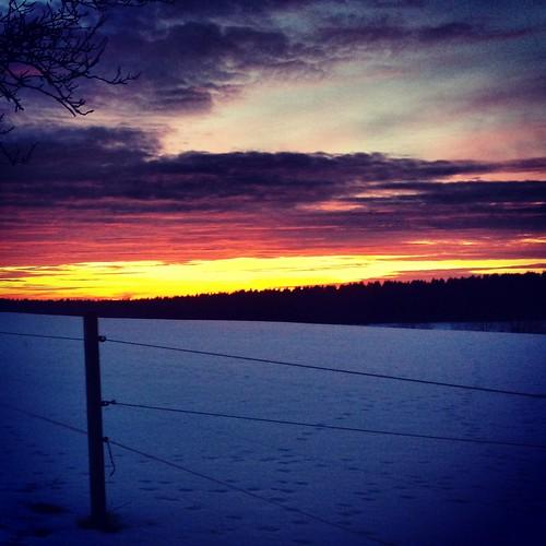 Sonnenuntergang bei Clausthal