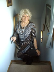 Not Only Do I Love Dressing Up . . . (Laurette Victoria) Tags: wisconsin pose dress milwaukee blonde laurette laurettevictoria laurettemcgovern