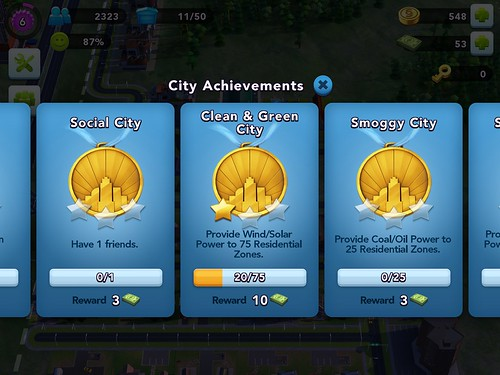 SimCity BuildIt Achievements: screenshots, UI
