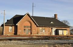 Plymouth, Indiana (1 of 2) (Bob McGilvray Jr.) Tags: railroad brick station train tracks plymouth indiana depot 1914 prr pennsylvaniarailroad