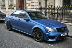 Mercedes-Benz C 63 AMG (CA Photography2012) Tags: ca blue london car sedan matt photography mercedes benz c united kingdom automotive super knightsbridge 63 special exotic mercedesbenz kensington mayfair saloon supercar v8 spotting matte sportscar amg merc belgravia c63 lk61jhu