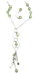 Glimpse of Malibu Green Necklace K1A P2810A-3
