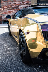 DSC_1047 (Head West Photography) Tags: cars gold golden rich fast wrapped wrap super expensive lamborghini luxury gallardo lambo