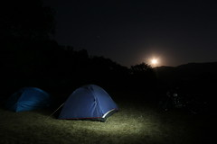 moonrise (ktmrider1989) Tags: camping tents moonrise midnight rajmachi quechua