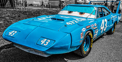 NASCAR Plymouth Superbird (Suggsy69) Tags: blue cars nikon plymouth disney nascar theking brandshatch selectivecolour superbird plymouthsuperbird disneyscars d5200
