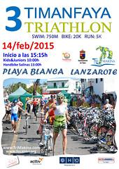 Cartel Timanfaya Triathlon 2015