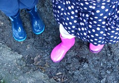 Muddy Boots (ChezMummy) Tags: walking children mud wellingtonboots muddyboots outdoorsadventures