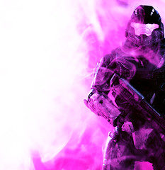 rookiepurple7 (Kingtardems) Tags: purple action smoke halo figure reach figures