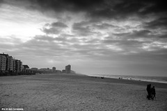 Empty beaches (Red Cathedral [FB theRealRedCathedral ]) Tags: sea blackandwhite art beach clouds noiretblanc zwartwit noordzee northsea oostende ostend merdunord digue zeedijk redcathedral aztektv
