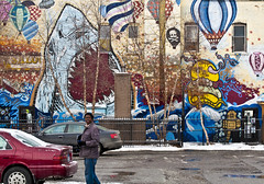 Minneapolis - St. Paul 2.19-2.22 (MBA-Photography) Tags: winter streetart minnesota birds graffiti community pigeons awesome minneapolis murals pop urbanart somali projects twincities somalian halal 2015 crackstacks cedarriverside coolcolor riversideapartments