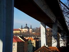 Nuselsk most (luca.raspberry) Tags: bridge roofs most kostel mikul nusle stechy nuselsk