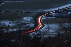 Light trails. (47mki) Tags: lighttrails suttonbank a170 clevelandway