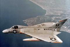 VMF-115 F4D-1 Skyray BuNo 134815, AE-2 (skyhawkpc) Tags: usmc airplane inflight aircraft aviation navy marines douglas naval usnavy usn usmarines skyray ae2 134815 f4d1 145072 vmf115ableeagles