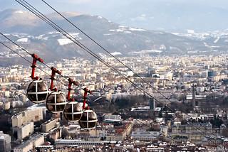 Télephérique,Bastille,Grenoble