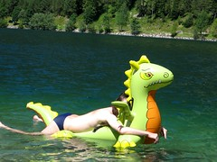 with my dragon on water (Arambajk) Tags: pool up toy blow collection inflatable float blowup inflatables drak pooltoy hraka nafukovac