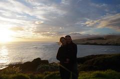 Us at Arai te Uru (Markj9035) Tags: sunset sea newzealand lake ferry coast lakes windswept coastline northland ahipara northlands oponomi
