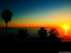 Sunset in Alanya (ibrahim.koyun) Tags: blue sunset sea sky sun tree beach turkey trkiye samsung palm antalya galaxy palmiye alanya s4 gnbatm sahil gne aa turkei gn batm avsallar alaiye