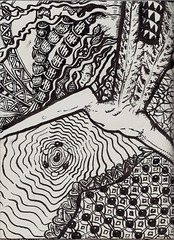 The Leap (molossus, who says Life Imitates Doodles) Tags: she zia zentangle zendoodle zentangleinspiredart