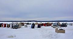 Ice Fishing Village (Cyber Drifter) Tags: canada ice fishing shanty