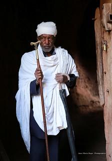 Prêtre Ethiopien. - Lalibela