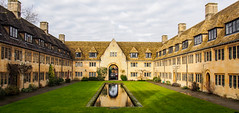 Oxford (martijnvansabben) Tags: city uk trip houses roof vacation chimney england sky house holiday building green love college water up grass clouds outside freedom mirror vakantie cool perfect university peace looking rooftops oxford stunning uni capture oldbuilding engeland nuffield awesomeshot citytrip oxfordcollege