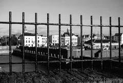 City behind bars (Kodak TP) (René Maly) Tags: blackandwhite bw film nikon zwartwit kodak hc110 zeeland fe vlissingen walcheren 2835 dilf nikkors technicalpan renémaly