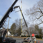 Light pole installation on March 13, 2013